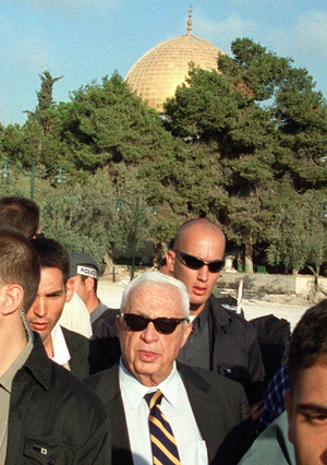 Sharon on Temple Mount