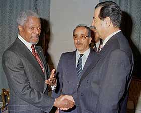 Annan and Saddam